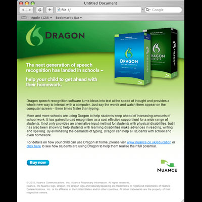dragon email flyer